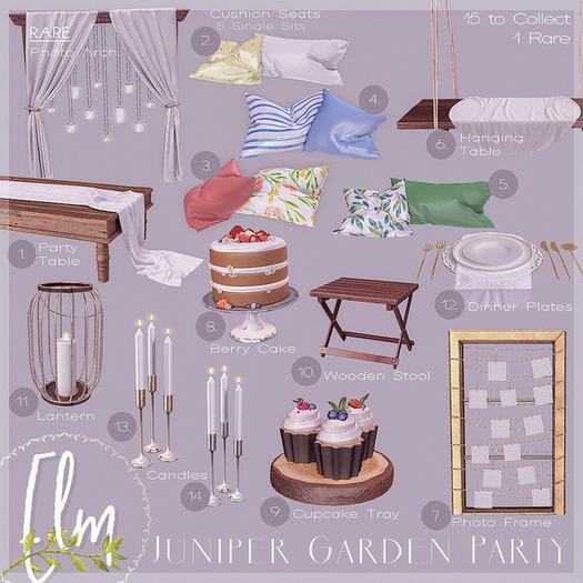 """9. Elm. Juniper Garden Party """"Cupcake Tray"""""""