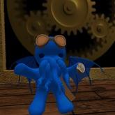 Steampunk Aviator Cthulu (blue)