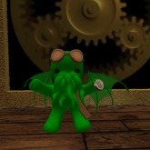Steampunk Aviator Cthulu (green)
