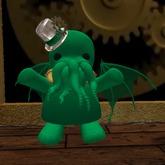 Steampunk Cthulu Girl (green)