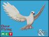 M&M Mesh Flying Dove - Static 3D mesh model [Boxed]