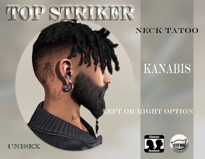 TOP STRIKER / NECKTATTOO KANABIS / ADD ME