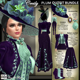 C&F Cecily Victorian Outfit Bundle - Plum/Teal