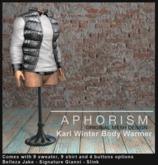 !APHORISM! Karl Winter Body Warmer - Metallic