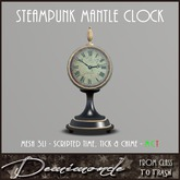 [CYN] Steampunk Mantle Clock