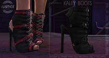 [JUSTICE] KALEY BOOTS - EBONY
