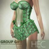 """HEC - """"Patrick"""" Corset Dress GIFT MDFL-LSRCR-118 (UA)"""