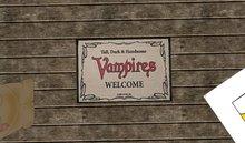 vampire welcome mat