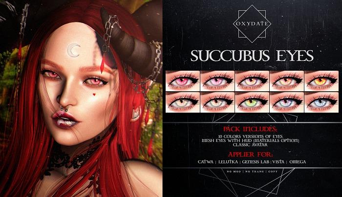 Oxydate. [Succubus] Eyes - Lelutka -