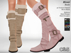 C&S River Boots for Maitreya Lara, Slink Physique and Hourglass - 40 Textures HUD. Mix & Match