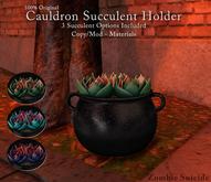 :Z.S: Cauldron Succulent Holder