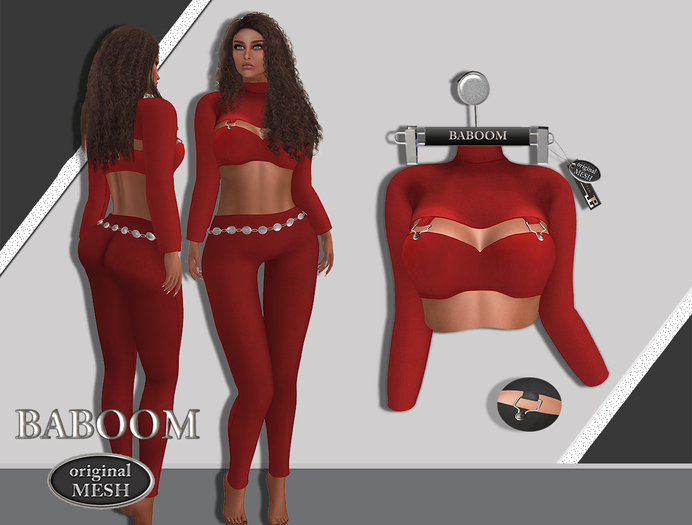 Baboom Lizzy-Shirt-Original Mesh-red