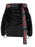 EVIE - Just Saying Skirt [Black]