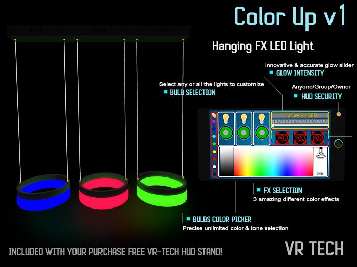 VR-TECH Hanging FX 3 Rings LED Lights