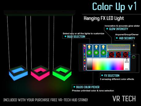VR-TECH Hanging FX 3 Square LED Lights