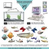 Soy. DREAM AQUARIUM - Fish tank [90s PC's Dream] RARE