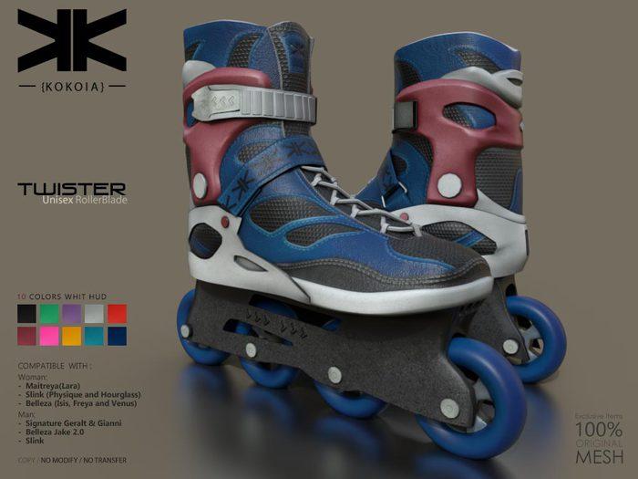 Twister :: Unisex RollerBlade :: 10 Colors :: {kokoia}