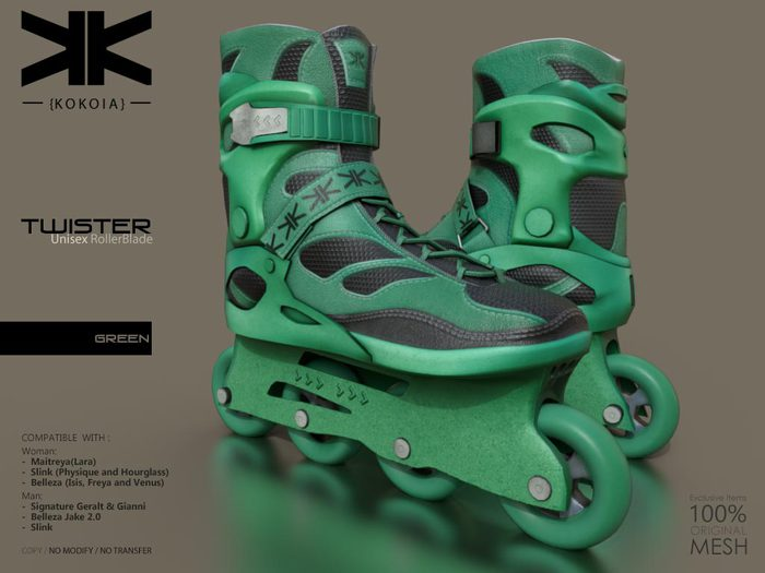 Twister :: Unisex RollerBlade :: Green :: {kokoia}