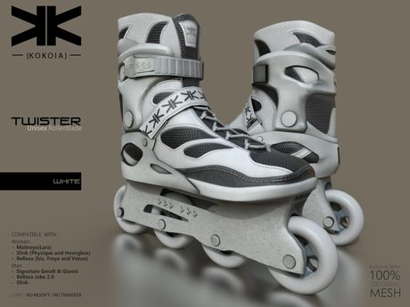 Twister :: Unisex RollerBlade :: White :: {kokoia}