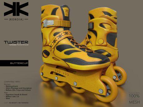 Twister :: Unisex RollerBlade :: Buttercup :: {kokoia}