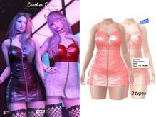 MIWAS / Leather dress #Pink (Maitreya)