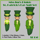 Miss Ing's Dinkie St Pats Suit Set Boxed
