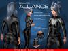 GRAVES Alliance - leather latex bodysuit, catsuit, plugsuit - Maitreya, Slink, Belleza