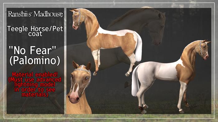 """*RMH* Teegle Horse coat """"No Fear"""" (palomino) -  Boxed"""