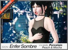 ♥ AVI(L) HUD Master: 3 Pale Soft Body Skins for Enfer Sombre - Porcelaine, Peach, Mocha