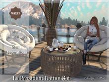 Maya's - La President Rattan Armchair & Table Set