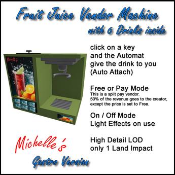 Michelle's Fruit Juice Vendor Machine - Gastro