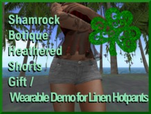 =<SB>=heathered hotpants - wearable Demo gift