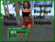"=<SB>=Linen Hotpants - HUD ""Promo"""
