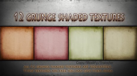 12  Free Grunge Shaded Textures