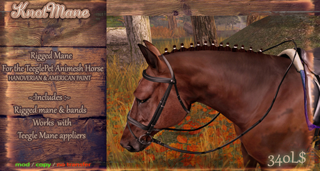 ::AppyBottoms:: TeeglePet Horse - Knotted mane (Hano Paint)