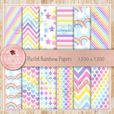 Pastel Rainbow Papers - WEAR to unpack