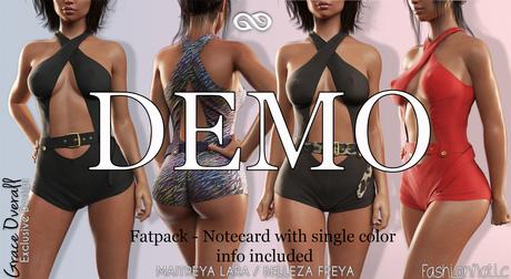 DEMO GRACE Female FATPACK OVERALL - MESH - Maitreya Lara, Belleza Freya