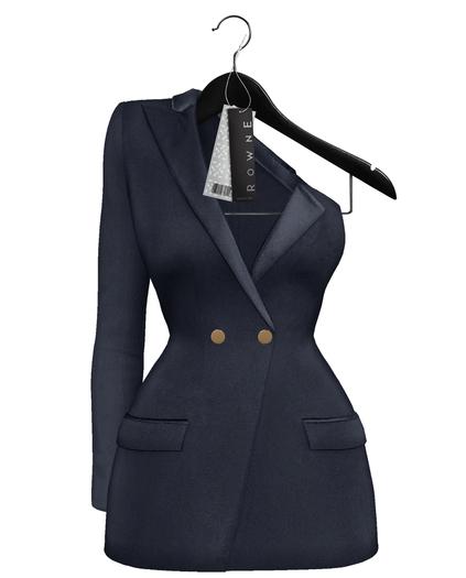 Rowne.Boeris Tux Dress - Navy