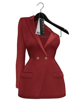 Rowne.Boeris Tux Dress - Red