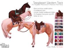 [Teegle] Western Tack Set for Teeglepet Horse