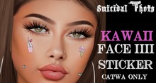 [Suicidal Thots] Kawaii Face Stickers  IIII Catwa HUD (open)