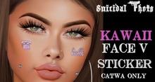[Suicidal Thots] Kawaii Face Stickers  5 Catwa HUD (open)