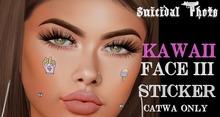 [Suicidal Thots] Kawaii Face Stickers III Catwa HUD