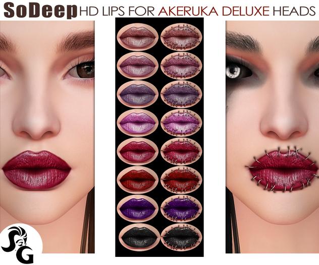 ::SG:: SoDeep HD Lips  for AKERUKA DELUXE Heads