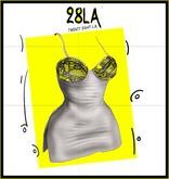 28LA. White Beatrix Dress Grey [Wear ME]