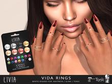 LIVIA Vida Bento Rings [Rigged for Maitreya, Slink, & Tonic]