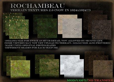 Rochambeau Terrain Textures 2.0 (1024 and 512)