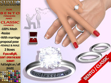 [SuXue Mesh] FATPACK Star Bento & Classic UnRigged Wedding Rings & Bands HUD Resize Proposal pose Female & Male