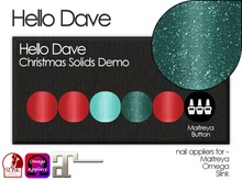 Hello Dave - Nail Appliers - Christmas Solids Demo