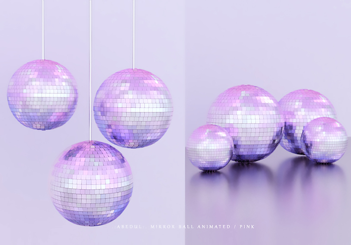 .:Abedul:. Mirror Ball Animated / Pink